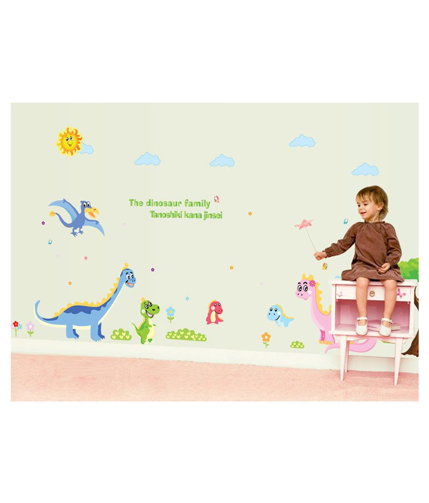 UberLyfe The Dinosaur Family Wall Sticker for Kids Room (Size : 135cm x 325cm)