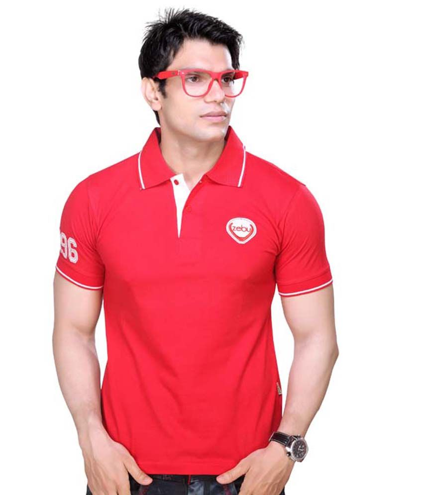 Zebu rich look red pique polo t shirt buy zebu rich look for How to get a rich look