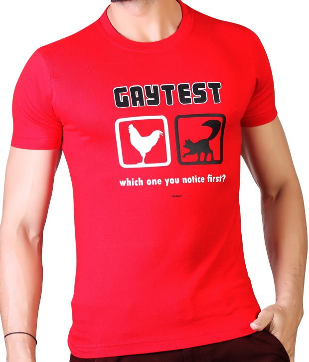 Tapasya Gay Test T Shirt - Buy Tapasya Gay Test T Shirt ...