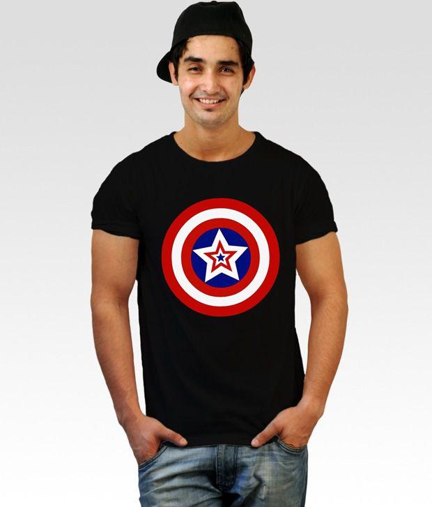 Incynk Captain America Black Star T-Shirt