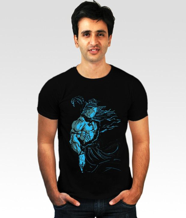 Incynk Black Lord Shiva T-Shirt