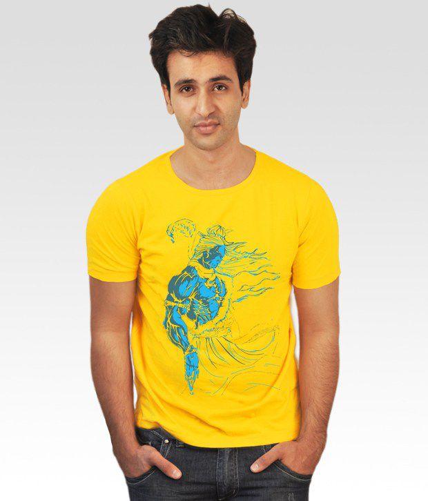 Incynk Yellow Lord Shiva T-Shirt