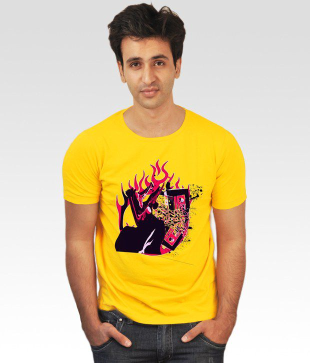 Incynk Yellow Music in Blood T-Shirt