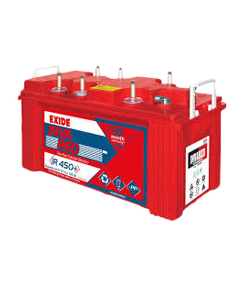 Exide Inva Red 450 Plus 135AH Battery available at ...