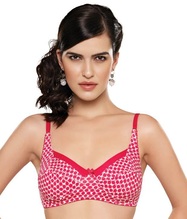 f5eeddf4aa9 Buy Inner Sense Coral Red Printed Non-Padded Bra Online at Best Prices in  India - Snapdeal