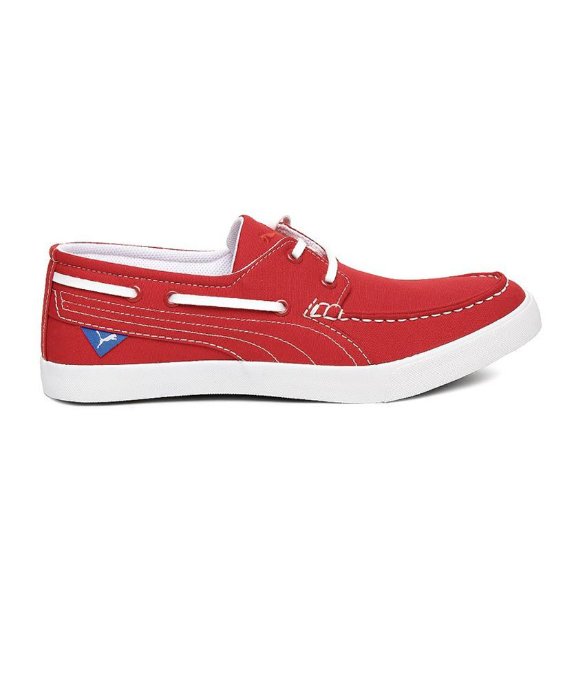c173e0df8180b0 Puma Red Boat Style Shoes - Buy Puma Red Boat Style Shoes Online at ...