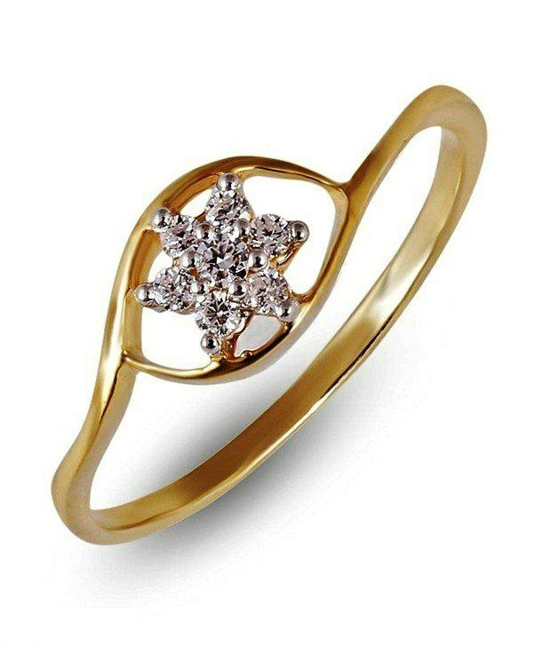 Shashvat Jewels 18 KT Charming Floral Diamond Ring