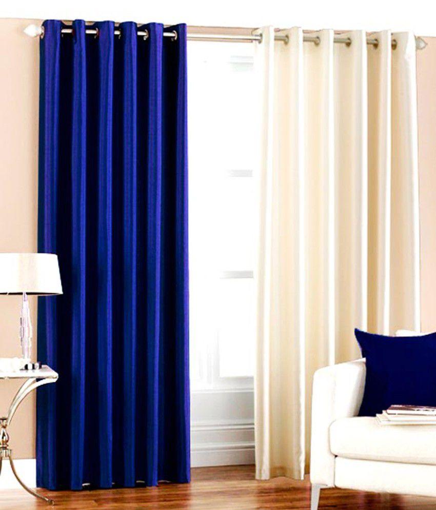 flano plain eyelet curtain 9ft set of 2 royal blue. Black Bedroom Furniture Sets. Home Design Ideas