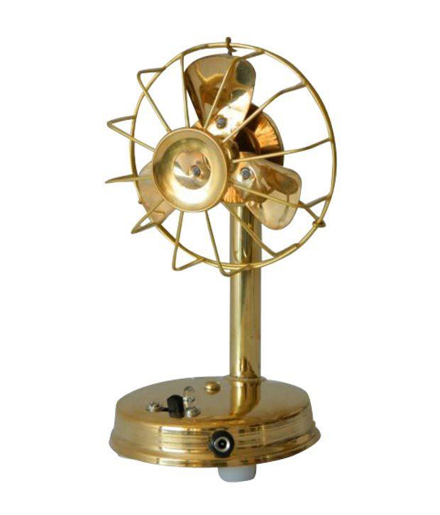 India Steel Decorative Brass Antique Fan