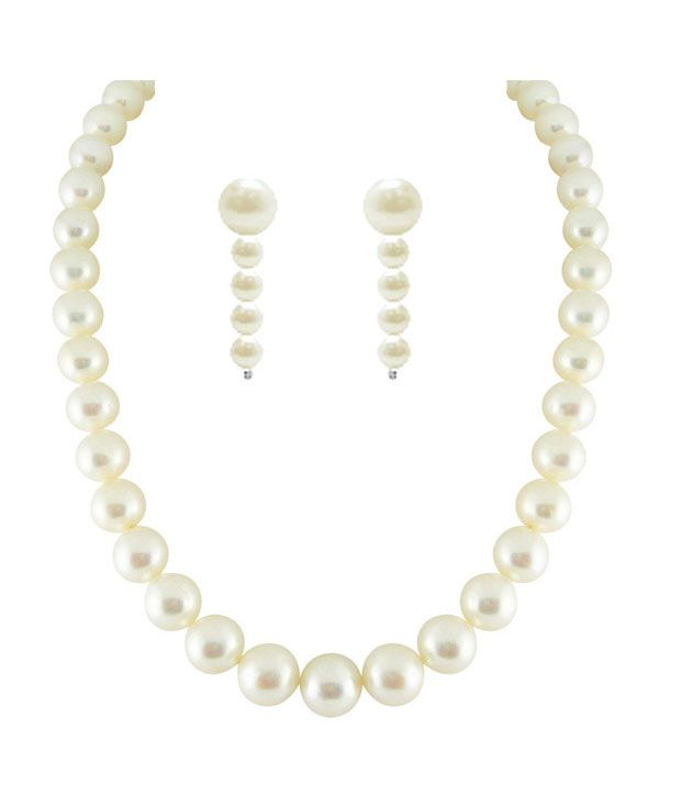 Sri Jagdamba Pearls New Single Line Classic Pearls Necklace