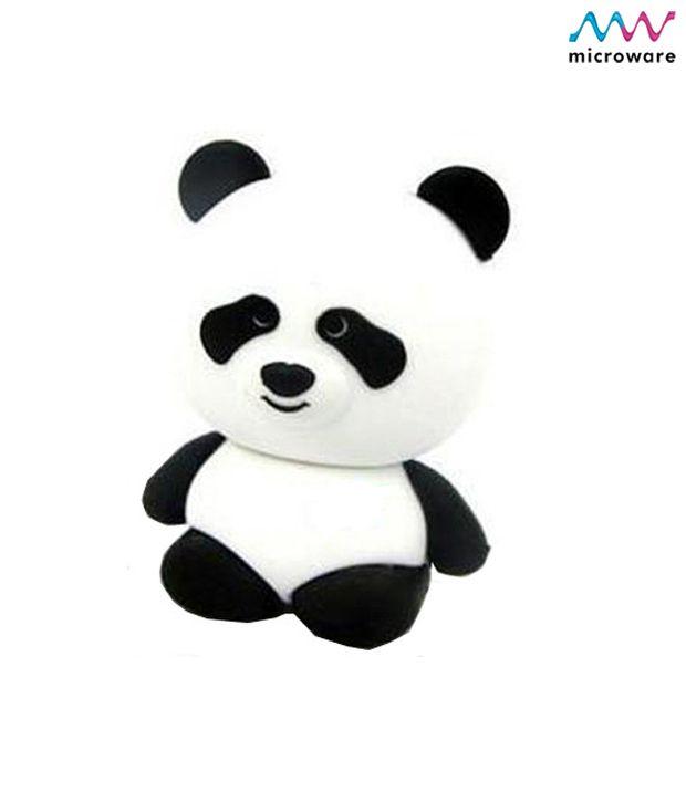 Microware Panda Rubber Shape Designer 8 GB Pendrive