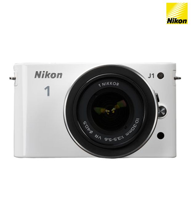 Nikon 1 J1 with 10-30mm Lens (White)