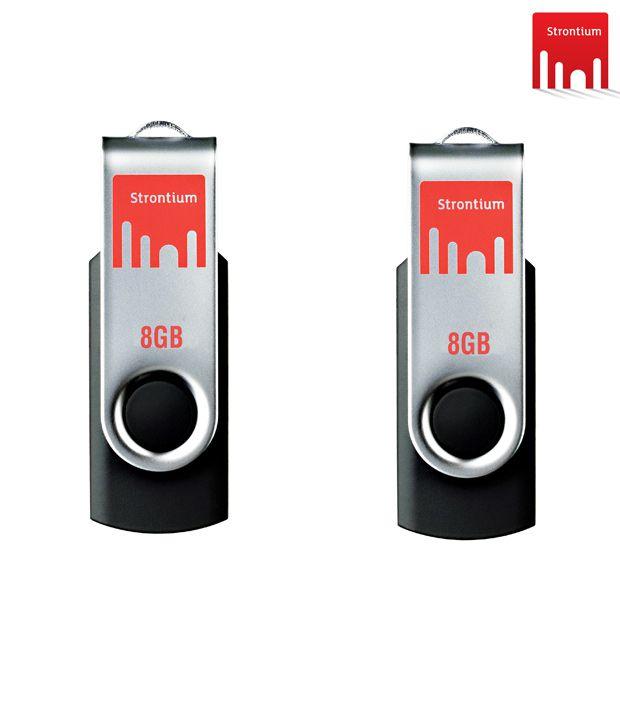 Strontium 8GB + 8GB Bold Pen Drive