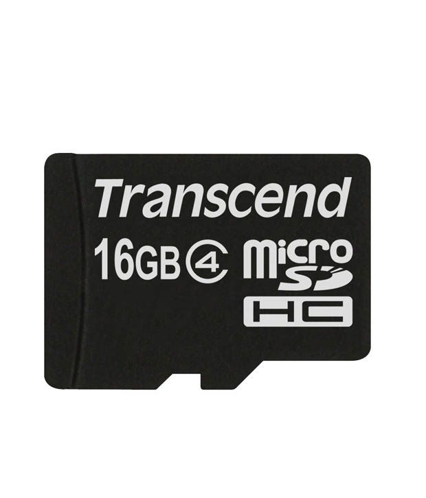 Transcend MicroSD Card 16GB Class 4 - Memory Cards Online ...