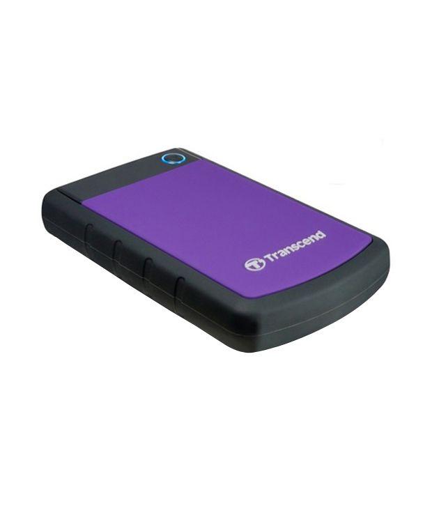 Transcend StoreJet 25H3P 1 TB External Hard Disk (Purple)