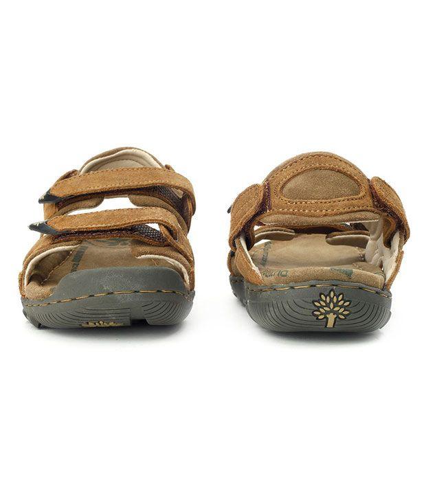 Buy Woodland Sober Brown Sandals Art
