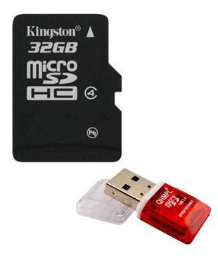 Kingston 32G Micro SD Card (Class 4) + Free Micro SD Card Reader