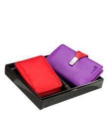 Butterflies Purple Wallet & Red Card Holder Combo