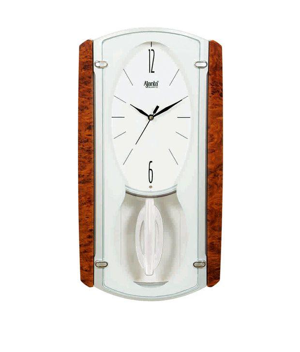 ajanta white pendulum wall clock buy ajanta white pendulum wall