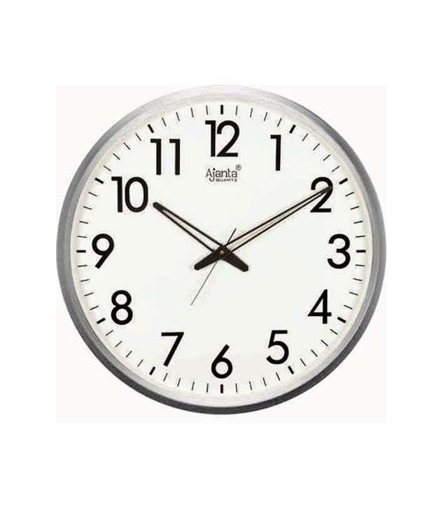 2b1b5aa4b Ajanta sb-467 White Round Wall Clock - Best Price in India ...