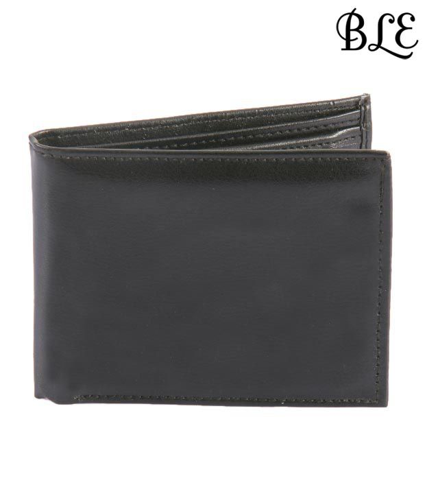 BLE Stylish Black Textured Finish Wallet