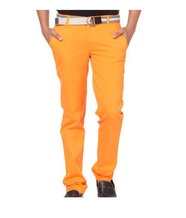 Harvest Orange Chinos with Free Earphones