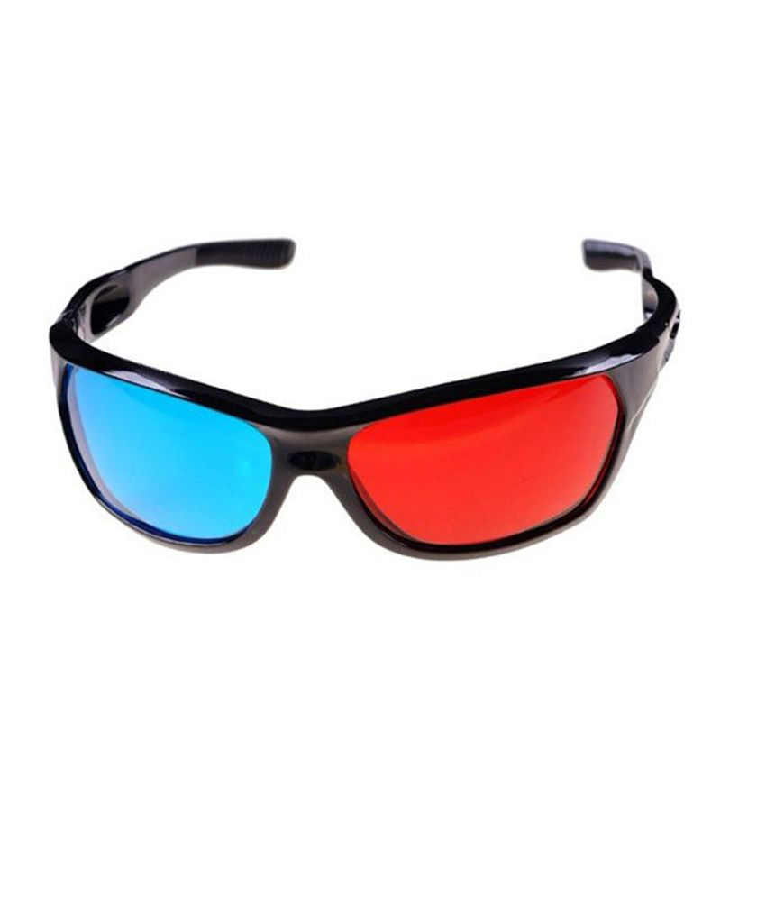 Buy Hrinkar Anaglyph 3D Glasses Plastic Red & Cyan Online ...