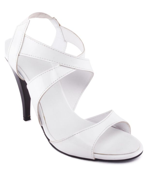 bc9887eb75cd Kielz White Pencil Heel Sandals Price in India- Buy Kielz White Pencil Heel  Sandals Online at Snapdeal