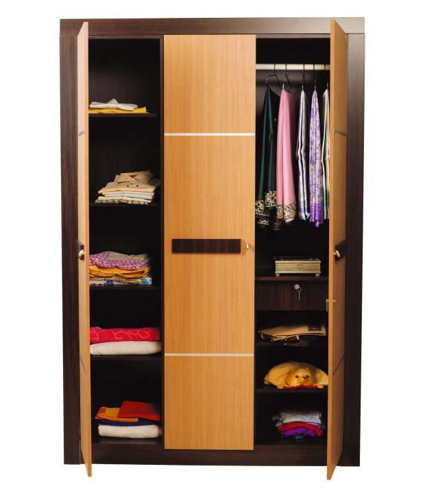 Nilkamal Cedar 3door Wardrobe Buy Online At Best Price In India On Snapdeal