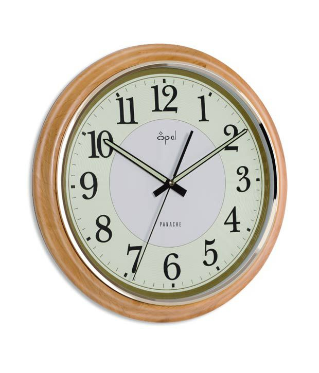 Opal Round Wooden Wall Clock Buy Opal Round Wooden Wall Clock at