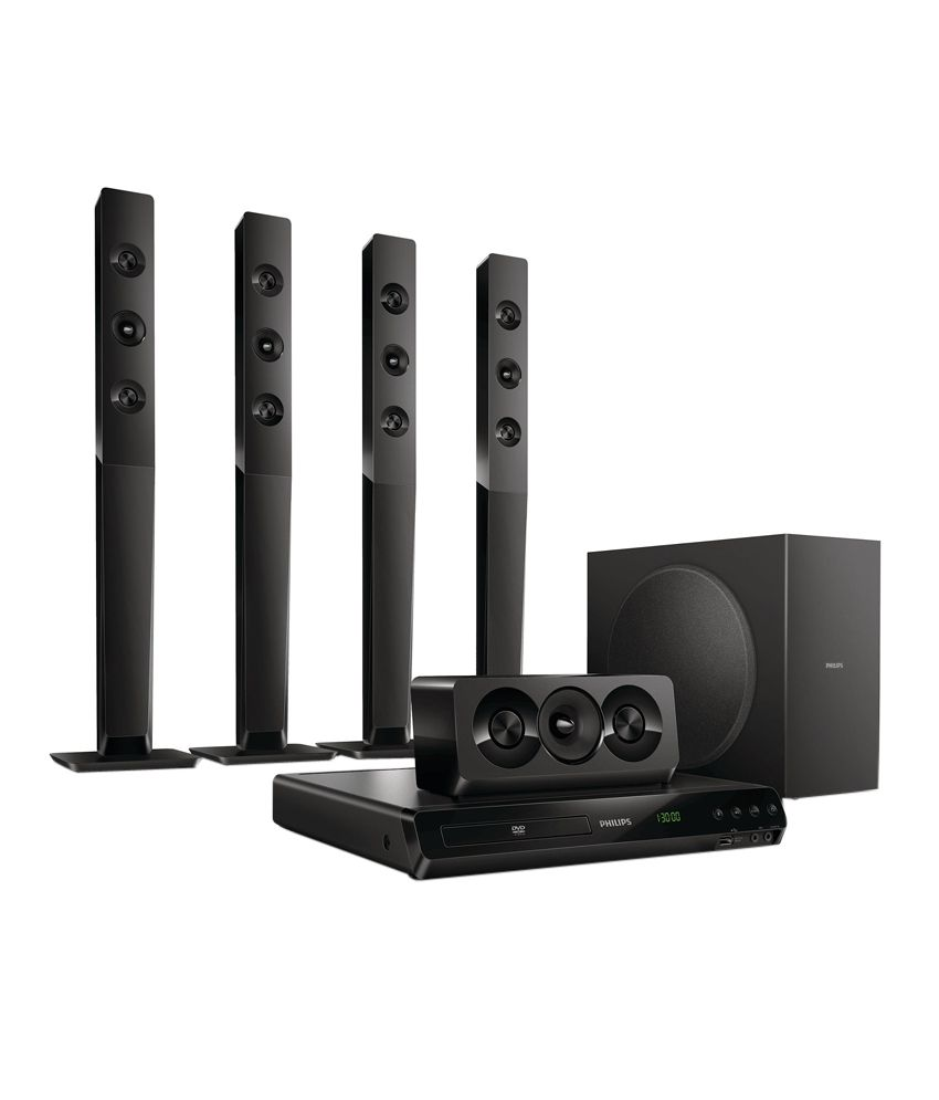 Home Theater Buying Tips: Buy Philips HTD5570/94 5.1 DVD Home Theatre System Online