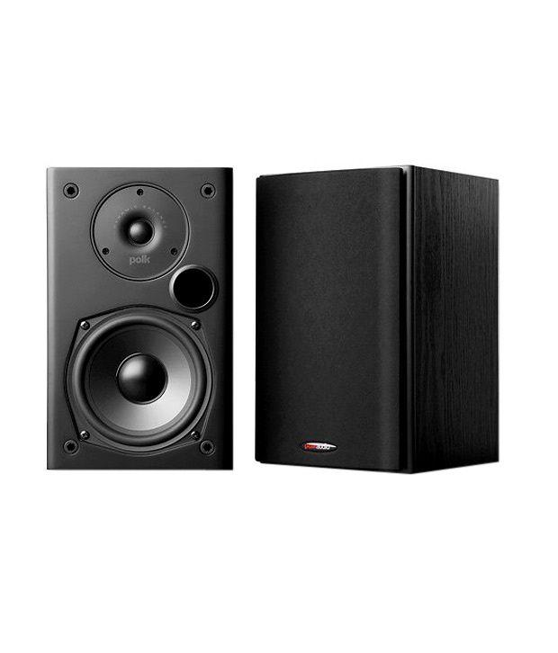 Polk Audio T15 Bookshelf Speaker Pair Black