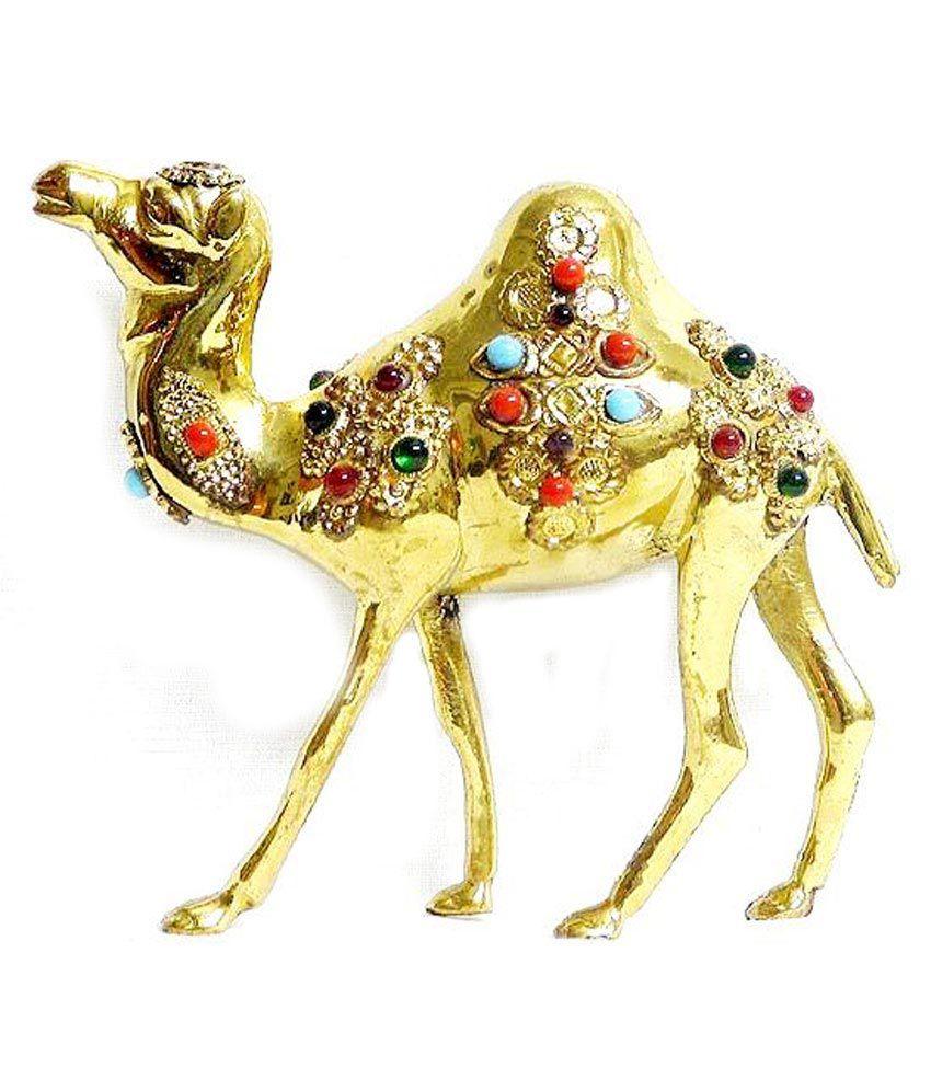 Rastogi Handicrafts Brass Decorated Camel