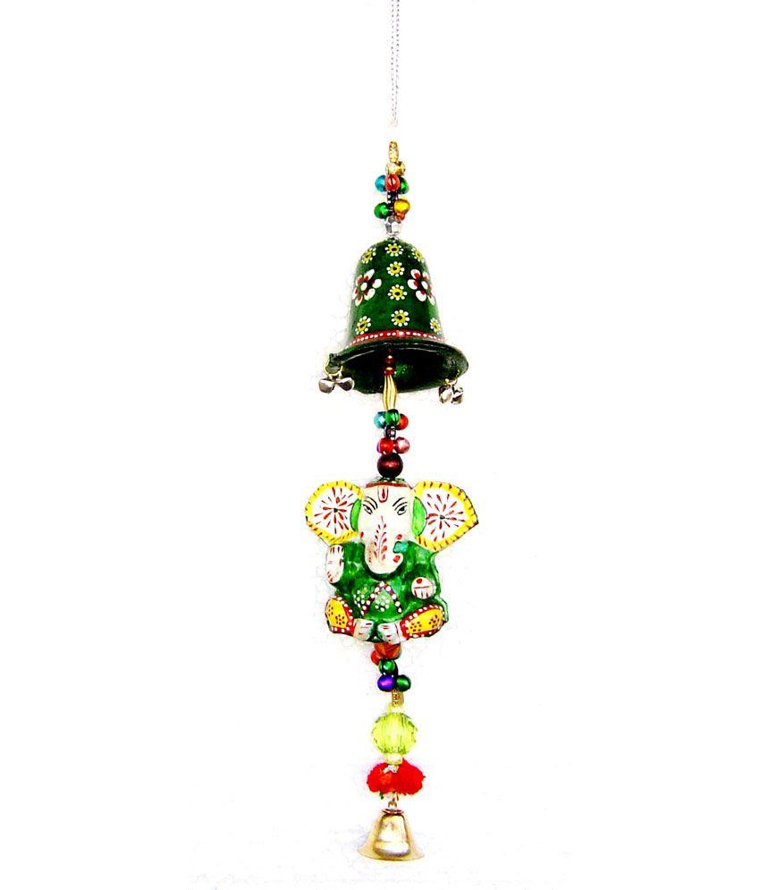 Rastogi Handicrafts Handing Ganpati Wind Bell - Green Buy 1 Get 1