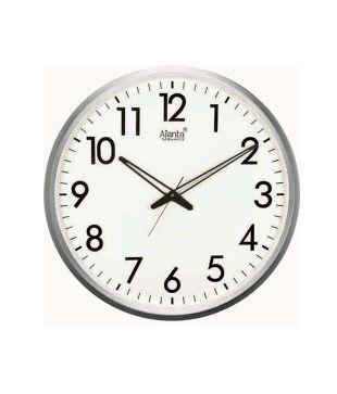 ajanta white round wall clock