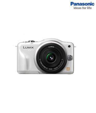 Panasonic Lumix DMC-GF3 (White)  Mirrorless Camera with 14-42mm  Lens