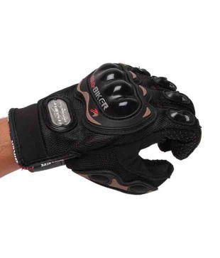 Pro Biker - Gloves Full - Black - (Standard Size : 10-11 inches)