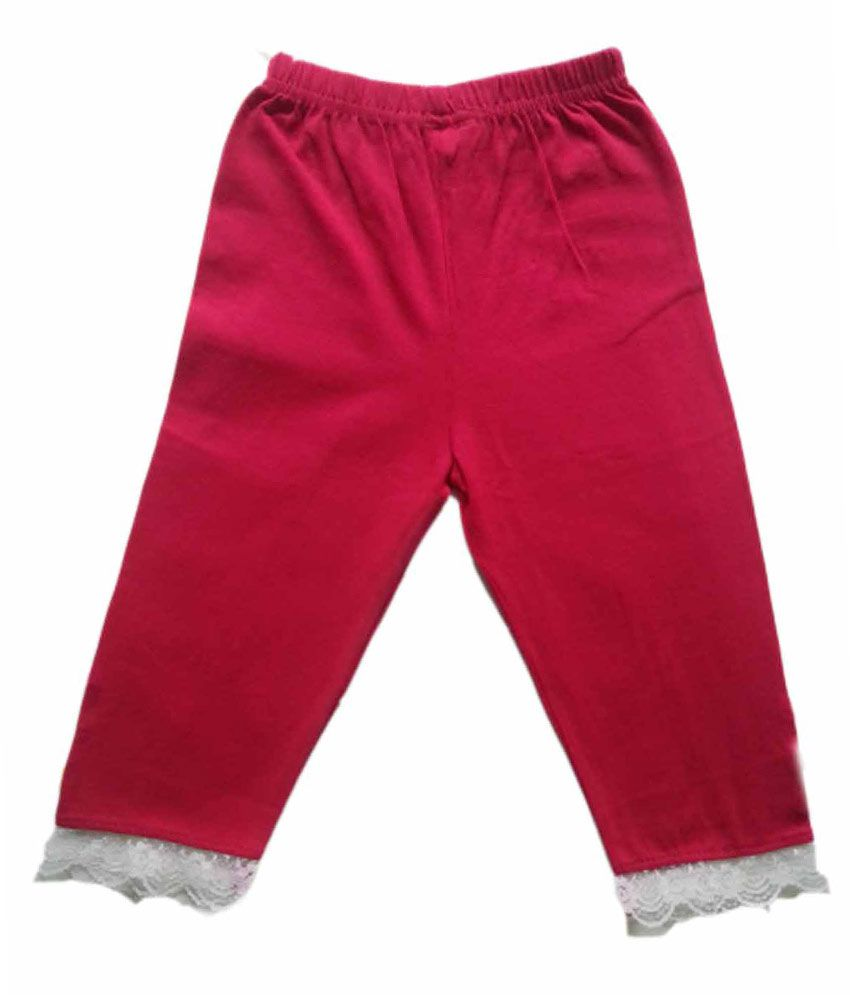 Little Champs World 3/4th Pink Leggings