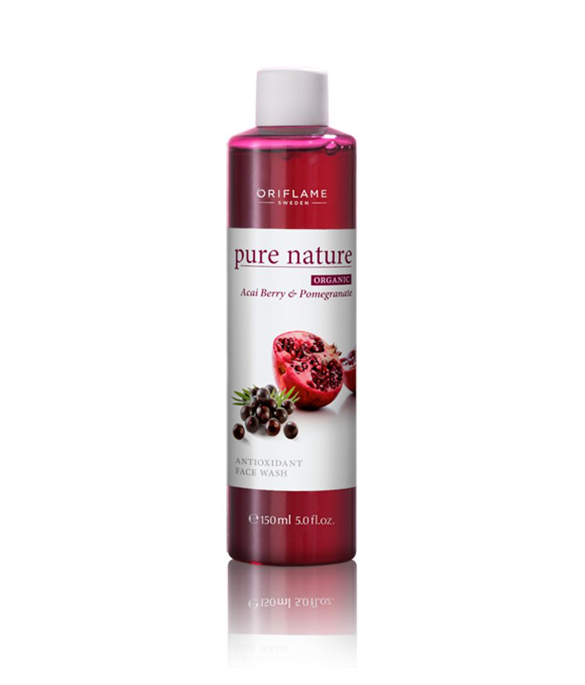 Facial cleanser with pomegranate