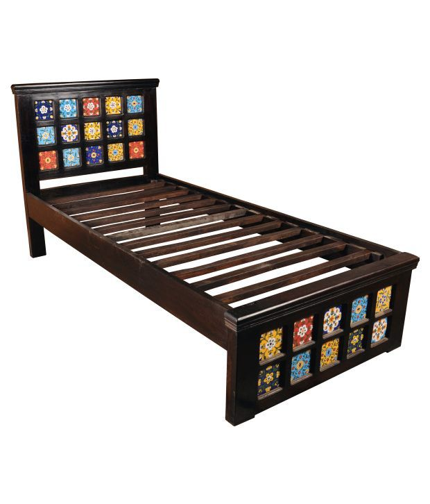 Sheesham Wood Designer Single Bed ...