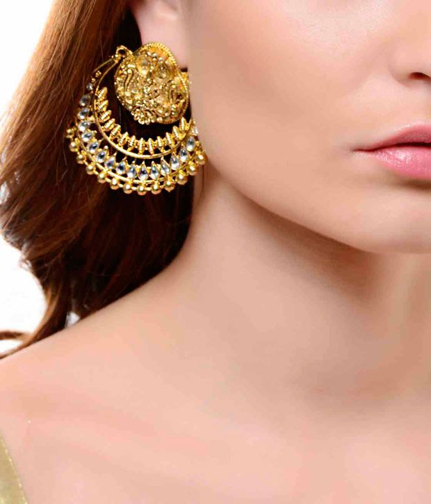 Shinning Diva Ramleela Inspired Kundan Earrings