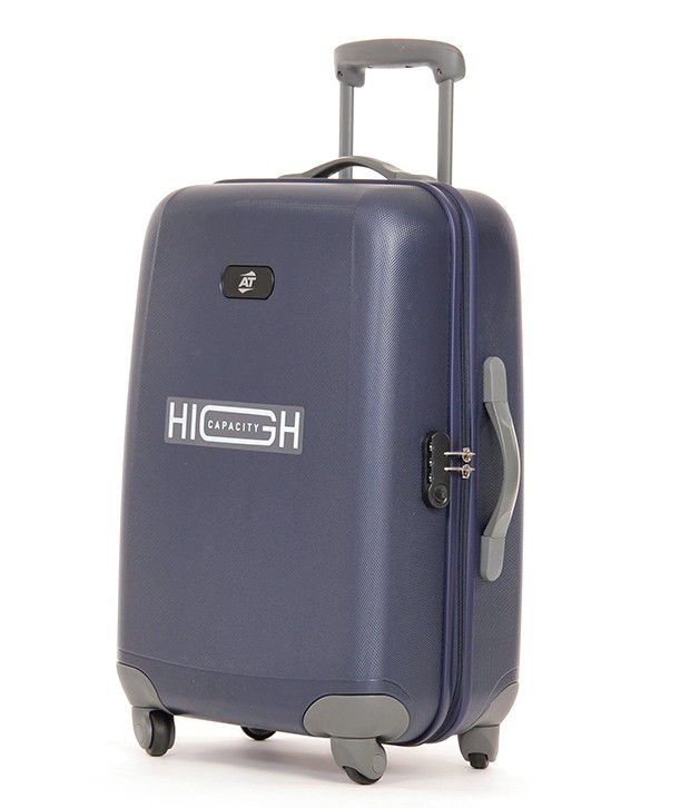 American Tourister Trendz S Blue 4 Wheel Hard Luggage Trolley -Size Medium (Between 61 Cm-69Cm)