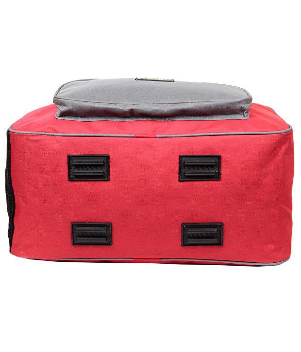 ... Bleu Durable Red And Grey Duffle Bag (Large bee5c35bdcff7