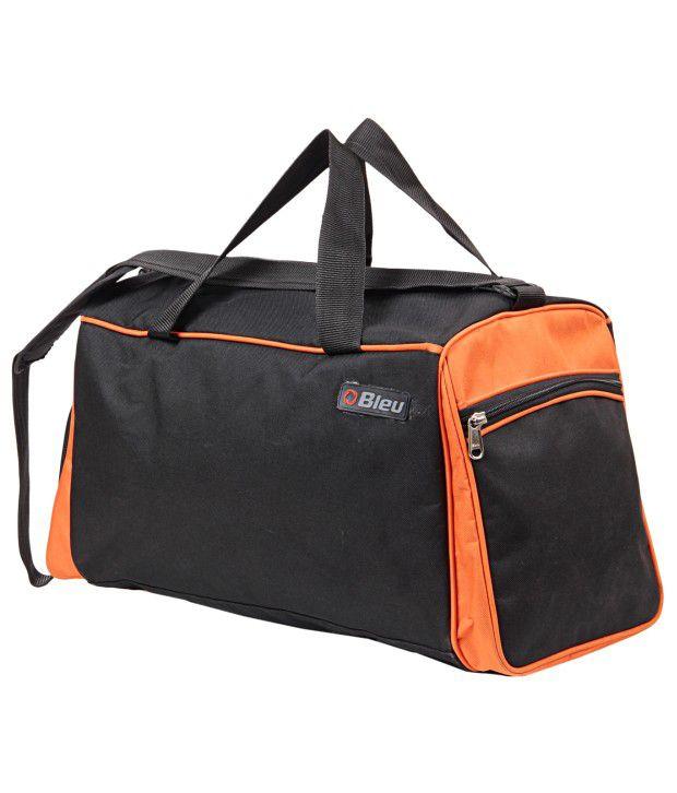 ... Bleu Vibrant Black And Orange Duffle Bag (Extra Large 9857ca3fc67d6