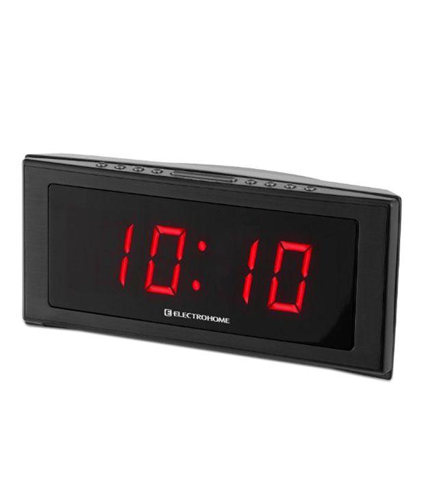 electrohome jumbo led alarm clock radio buy electrohome jumbo led alarm clock radio at best. Black Bedroom Furniture Sets. Home Design Ideas