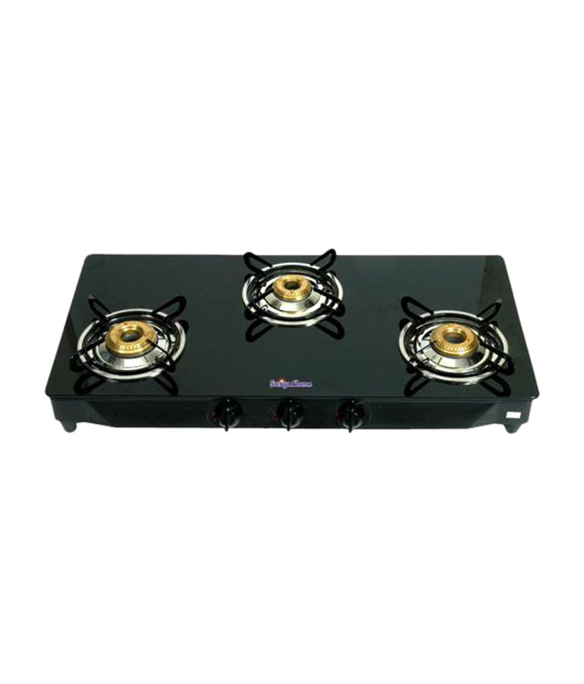 Surya Flame Glaze SFBL-GL-1473B Gas Cooktop (3 Burner)