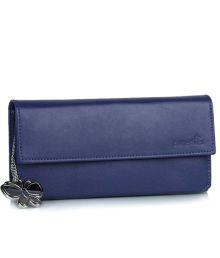 Butterflies Dark Blue Smooth Finish Wallet