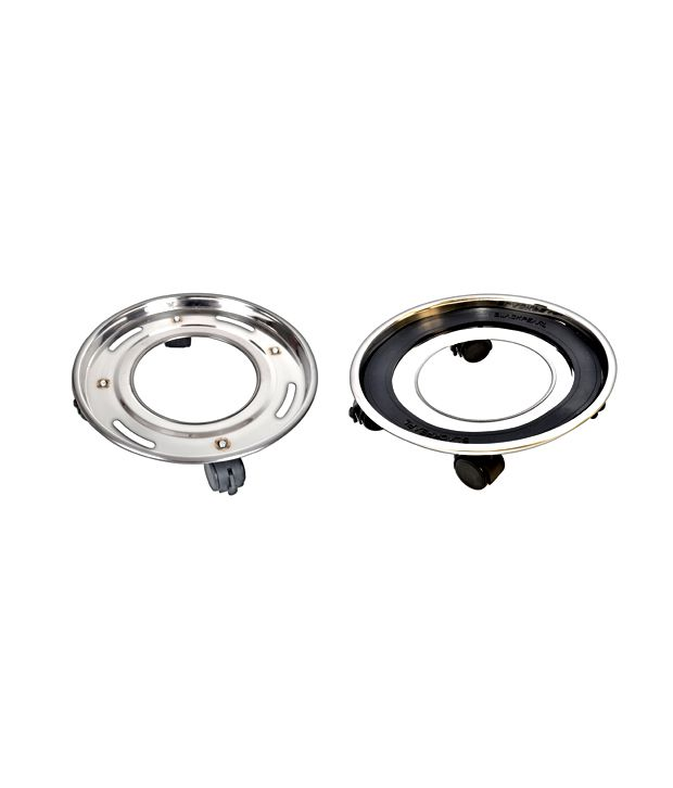 BlackPearl Deluxe Stainless Trolley For LPG Cylinder 50mm ...