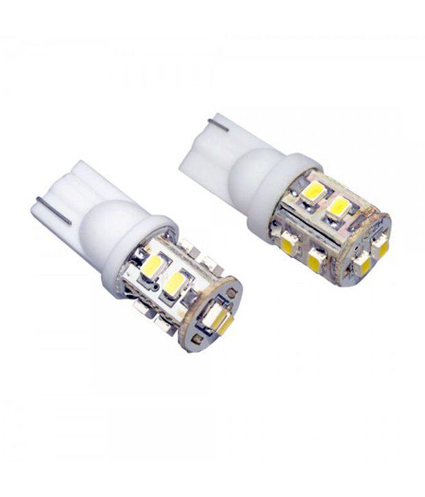 Cartime 10 Smd Led Bulb 12 Volt Dc Bike Car Indicator Parking Bulb Set Of 2 White