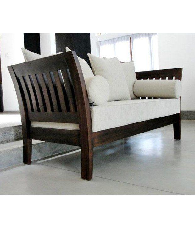 furny wooden sofa set extra spacious 3 plus 2 plus 1 creame fabric rh snapdeal com